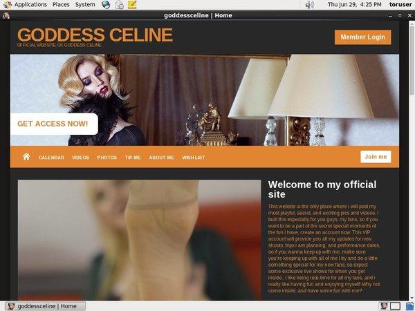 Goddessceline.net Discount Password
