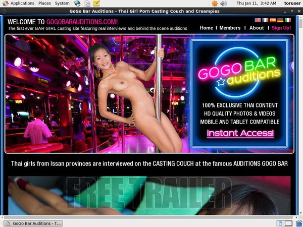 Gogobarauditions.com Trial Discount Offer