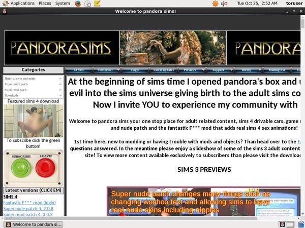 Free Pandora Sims Promo Code
