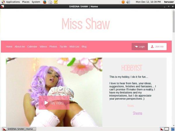 Get Free SHEENA SHAW Account