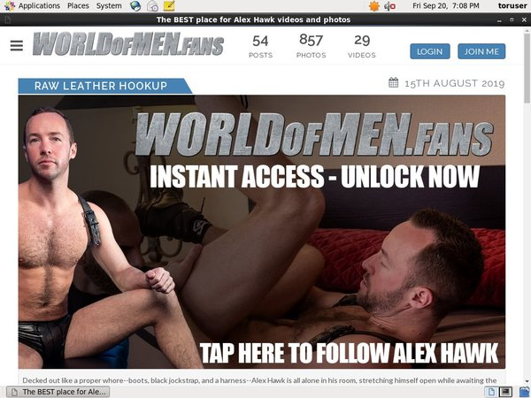 Alexhawk.worldofmen.fans Tranny
