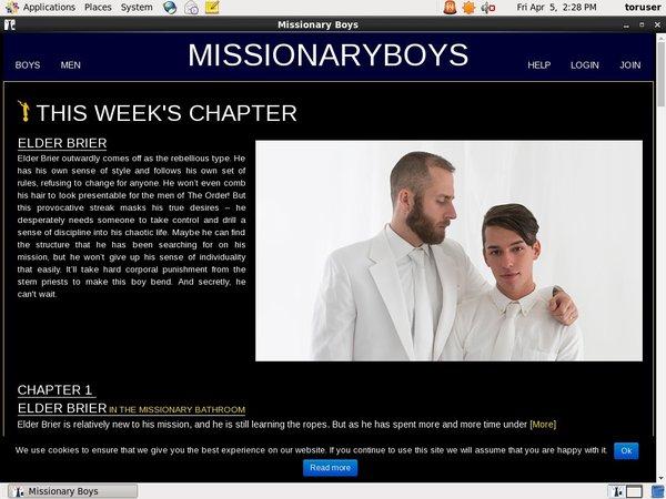 Free Missionaryboys Passes