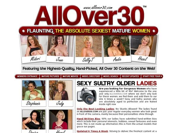 Free Logins For Allover30.com
